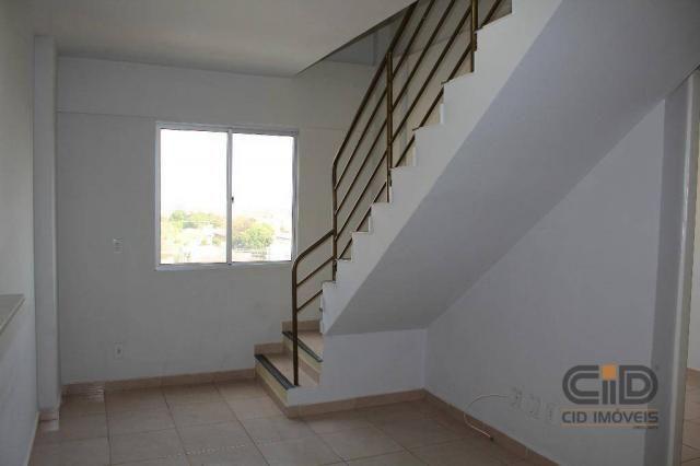 Apartamento duplex com 3 dormitórios para alugar, 108 m² por r$ 1.800/mês - goiabeiras - c - Foto 2