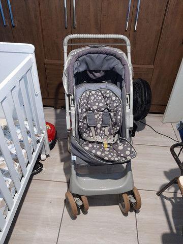 Berço americano +  carrinho de bebê da galzerane - Foto 3