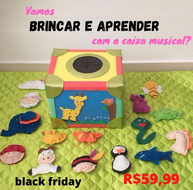 Caixa musical em eva, brinquedo educativo, black friday - Foto 2