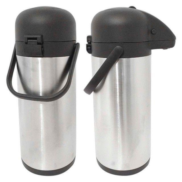Garrafa Térmica Aço Inox 2,2 Litros Inquebrável Quente e Fria - Foto 5