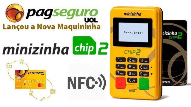 Seja um revendedor de maquininhas da PagSeguro - Minizinha Chip2 ( Atacado) - Foto 2