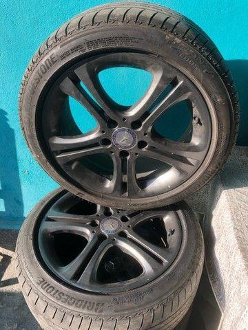 Jogo c 4 rodas p/ Mercedes A200 17, ano 2014+ pneu 225/45 17