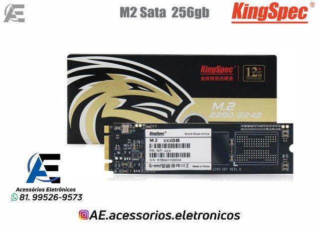 SSD M.2 128gb, 256gb e 512gb Sata - KingSpec - Entregamos e Aceitamos Cartões - Foto 2