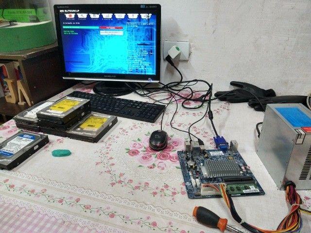 Kit placa mae ECS processador Intel atom e memória DDR3 2GB  - Foto 3