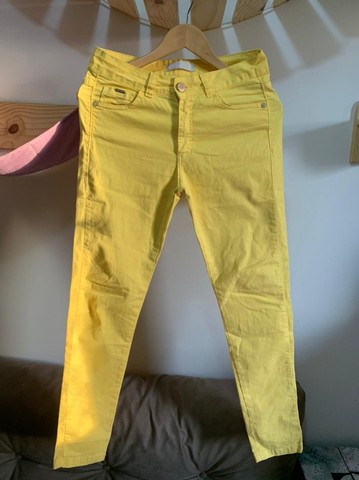 Calça Jeans Amarela - n 38