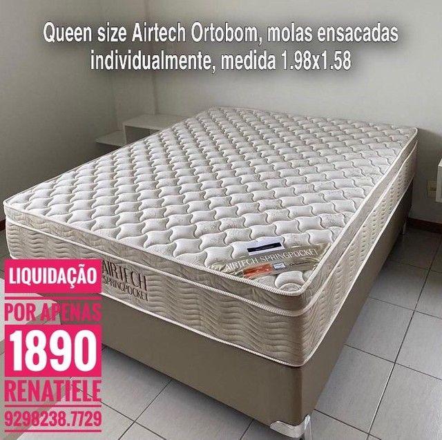 Cama Queen size Airtech + 2 TRAVESSEIROS de brinde