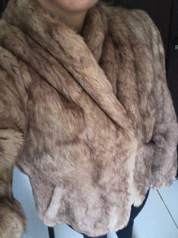 Casaco de pele de coelho (legítimo) - Foto 4
