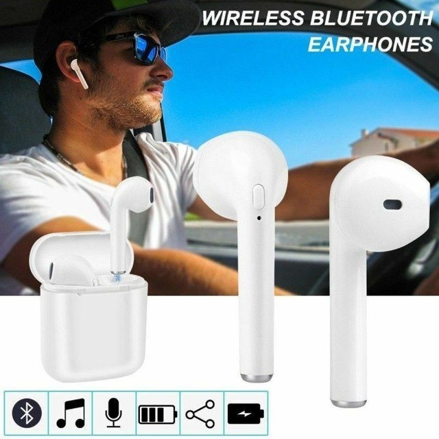 Fone De Ouvido Bluetooth I9s Tws AirPods iPhone Android S/fio - Foto 3