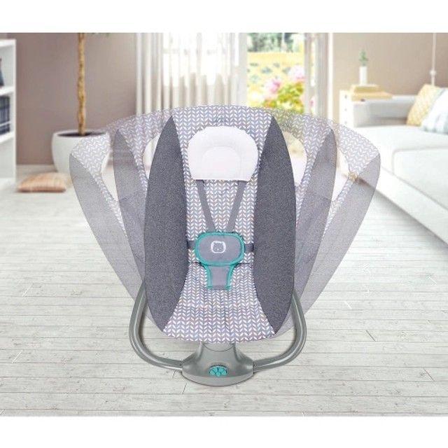 Cadeirinha de Balanço automática - cadeira de bebê vibra música bluetooth