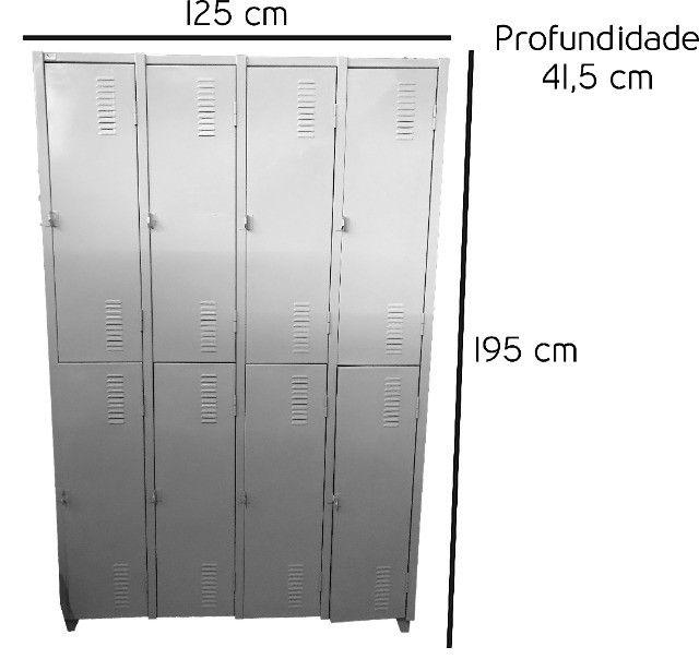 Armário roupeiro 8 portas vestuário - Foto 4