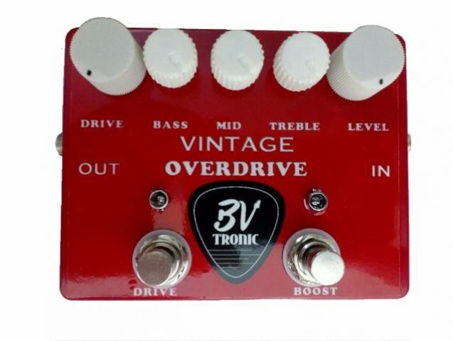 Pedal Handmade BVtronic Red Vintage Overdrive