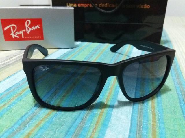 Óculos de Sol Ray Ban Original Novo (Nunca Usado) Modelo JUSTIN ... 553b15b7a4