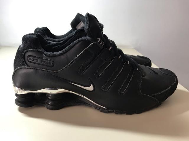 e4bcae655e6 Nike Shox Feminino Preto com Prata Original   Seminovo   Tamanho 38