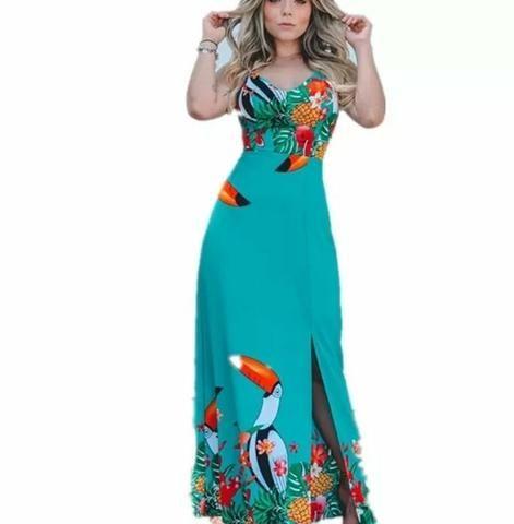 16c5b6b836 Promoção Lindo vestido Longo Tucano verde - Roupas e calçados ...