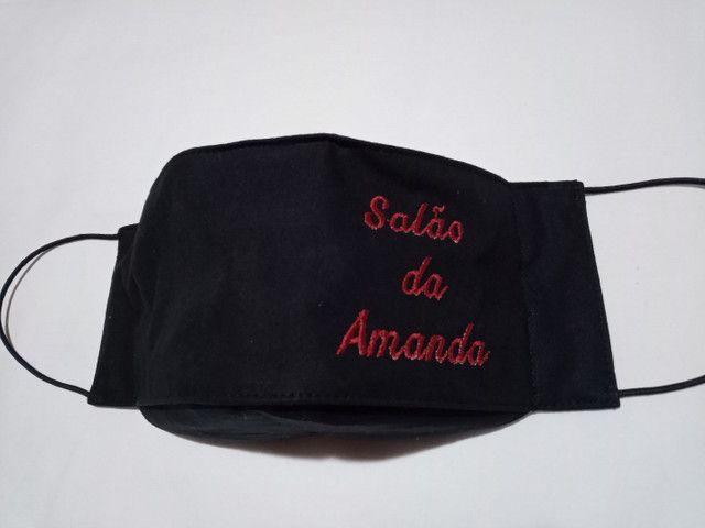 Máscaras personalizadas com bordado - Foto 5