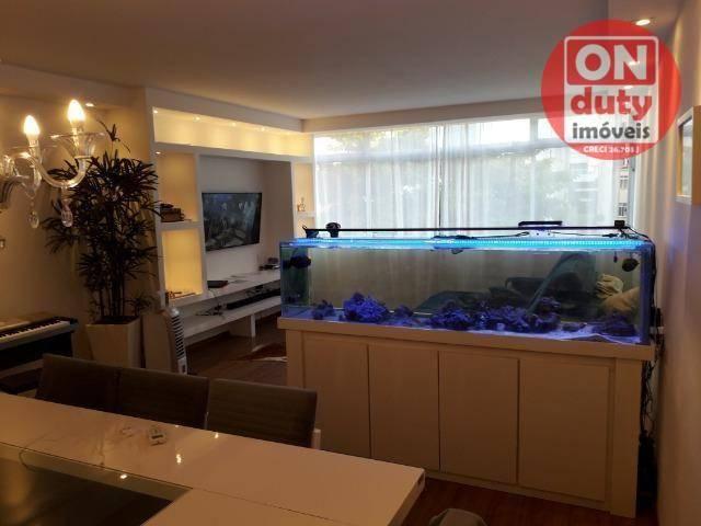 Apartamento com 3 dormitórios à venda, 120 m² por R$ 630.000 - Aparecida - Santos/SP - Foto 3