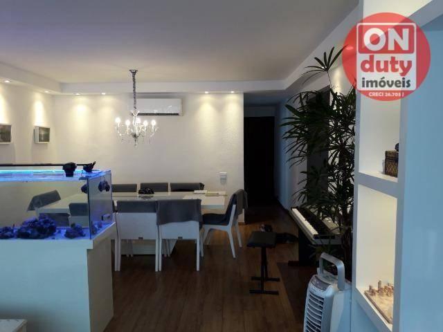 Apartamento com 3 dormitórios à venda, 120 m² por R$ 630.000 - Aparecida - Santos/SP