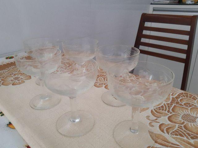 Jogo de taças de cristal muito antigo. - Foto 2