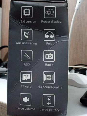 Fone ouvido Bluetooth vermelho - Foto 6