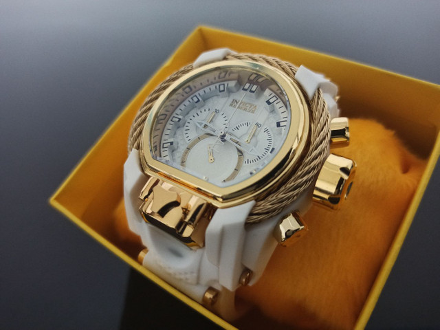 Relógio masculino invicta Magnum pulseira branca - Foto 2