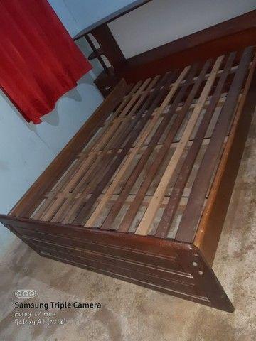 Cama de madeira com baú e gavetas - Foto 2