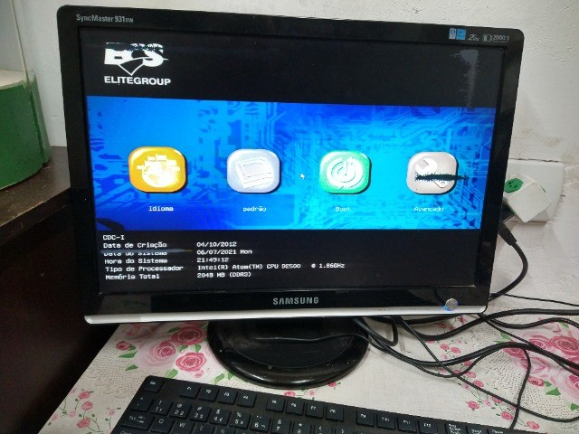 Kit placa mae ECS processador Intel atom e memória DDR3 2GB  - Foto 2