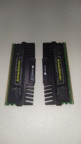 (Pix 400,00) Memória RAM 8Gb 1600mhz DDR3 Corsair - Foto 3