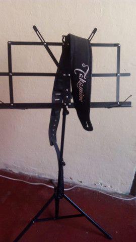Alça de violão takamine + pedestal de pasta - Foto 2