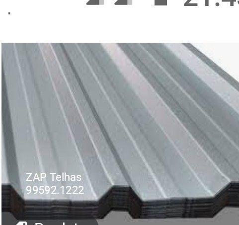 Telha Zinco - congonhas lafaiete ouro branco - galvalume e perfis metalons atacado varejo - Foto 2