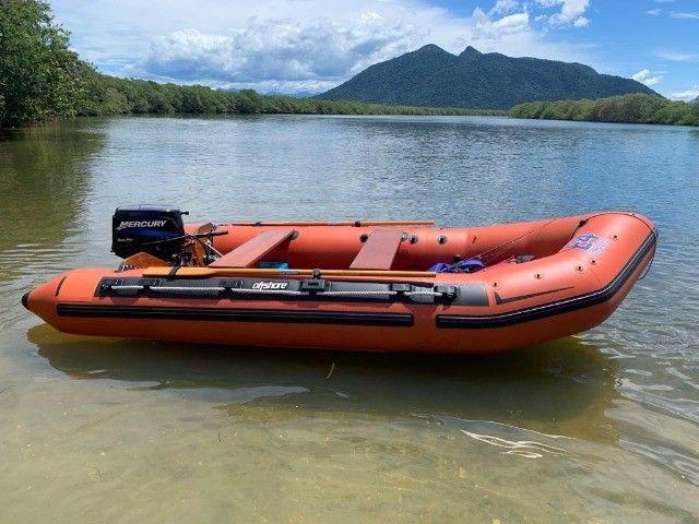 Bote Inflável Offshore Euroflex Desmontável 4,30m Raridade - Foto 5