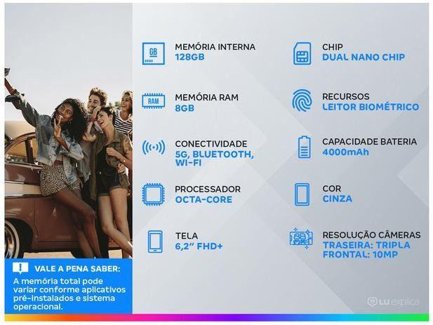 Samsung Galaxy S21 128gb Cinza 5G - 8GB ram Tela 6,2 Câm. Tripla + Selfie 10MP - Foto 3