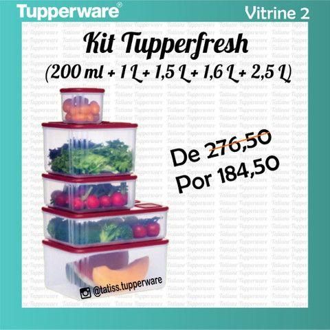 Kit Tupper Fresh 5 Peças