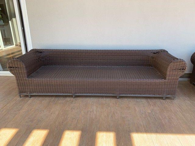 Jogo de sofás para área externa em fibra sintética