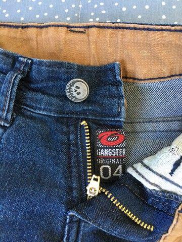 Calça jeans Gangster e brim Milon tamanho 4 - Foto 3