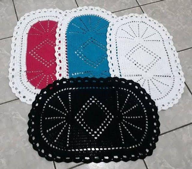 Fabricação de tapetes de Crochê! - Foto 4
