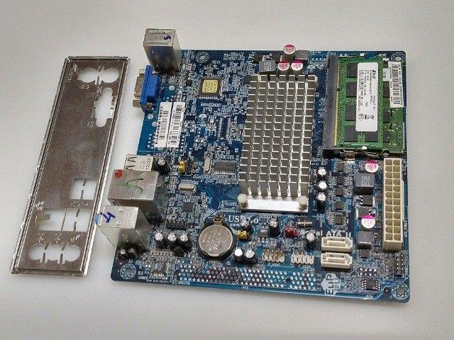 Kit placa mae ECS processador Intel atom e memória DDR3 2GB