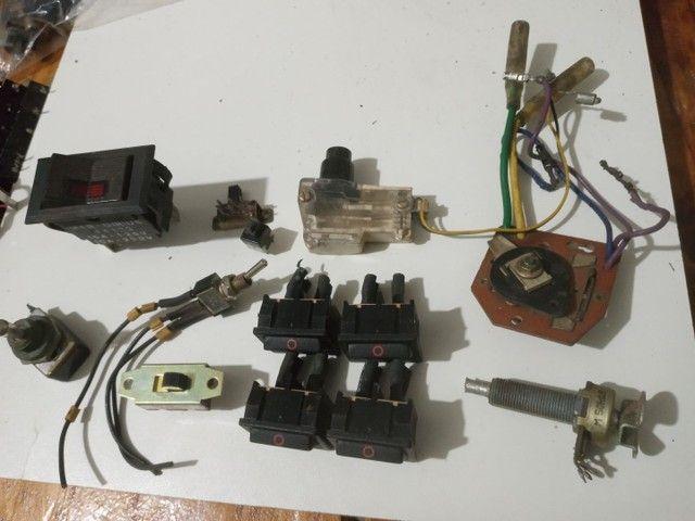 Kit chaves tia tac, push button, potenciometro.