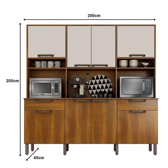 Armário Cozinha 8 Portas 2 Gavetas Ímola Salleto  - Foto 3