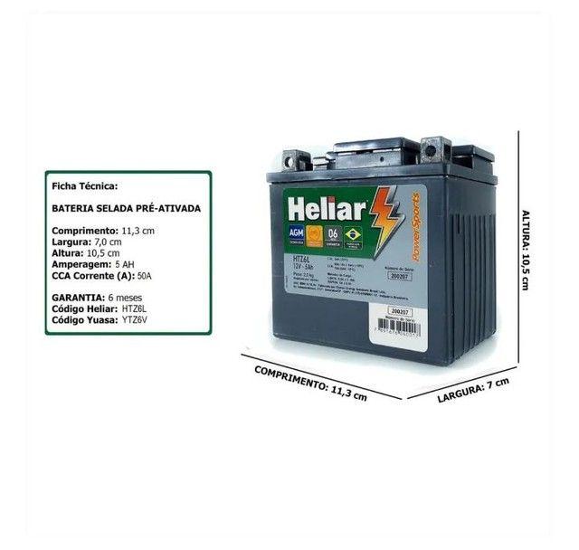 Bateria Heliar para moto 12x sem juros  - Foto 2