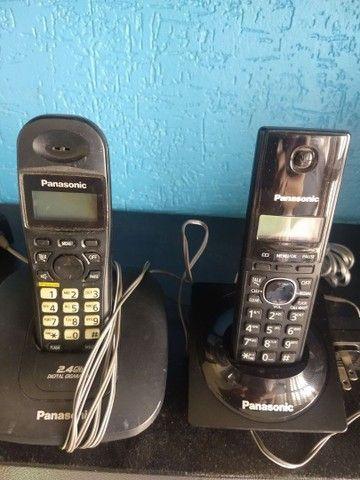 2 telefones sem fio Panasonic