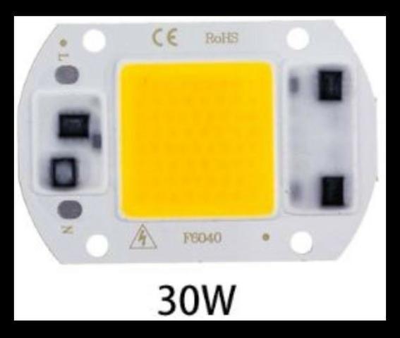 COD-CP285 Super Power Led Cob 30w 220v Ac Branco Quente Arduino Automação Robotica