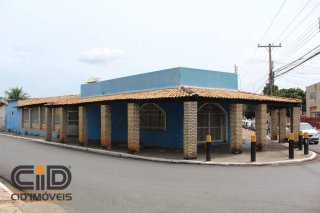 Salão para alugar, 270 m² por r$ 1.400,00/mês - centro norte - várzea grande/mt