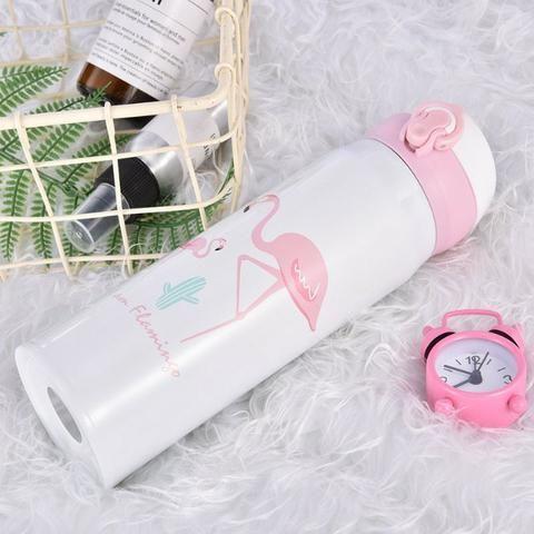 Garrafa Térmica De Inox 450 ML com Estampa de Flamingo - Foto 6