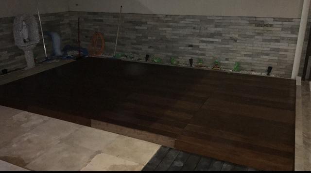 Vendo ou troco deck de madeira - Foto 2