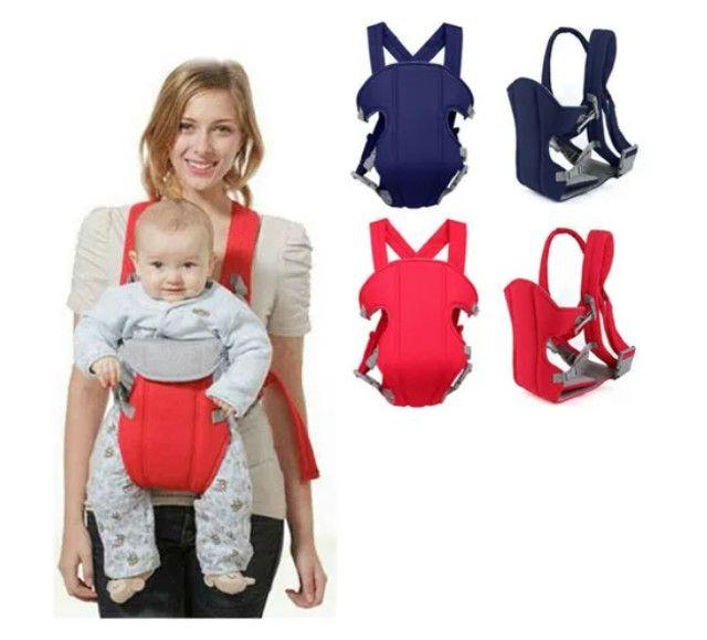Bolsa Canguru Bebê Leve Alça Almofadada Até 12 Meses 9,5kg