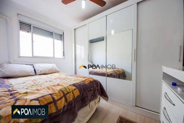 Apartamento com 2 dormitórios para alugar, 54 m² por R$ 1.800,00/mês - Protásio Alves - Po - Foto 7