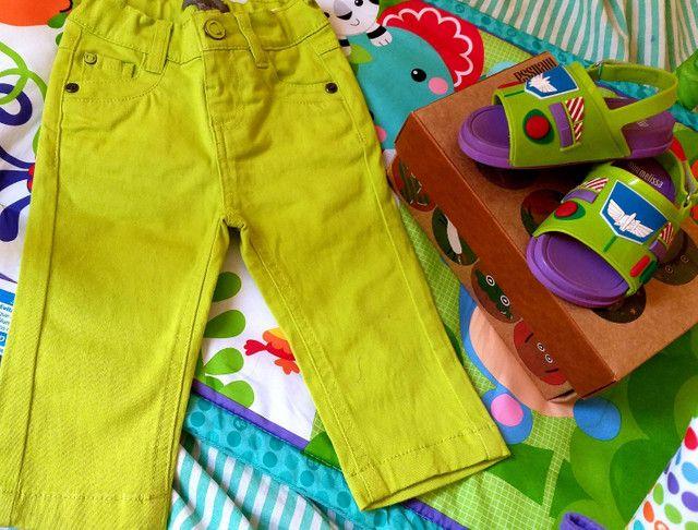 Kit calça tigor e mínimelissa toystory