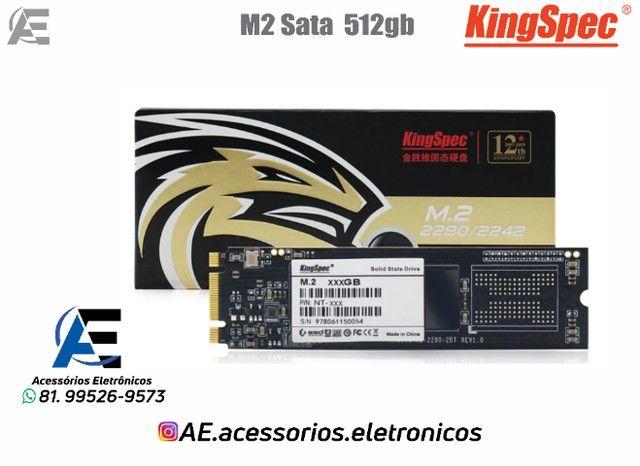 SSD M.2 128gb, 256gb e 512gb Sata - KingSpec - Entregamos e Aceitamos Cartões - Foto 3