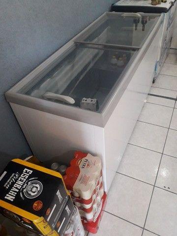 Freezer horizontal gelopar semi novo top - Foto 4