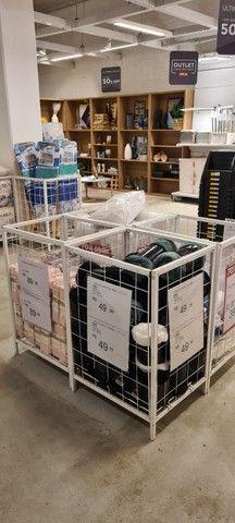 Gôndolas de centro e parede, checkout, cestos aramados usados - Foto 4